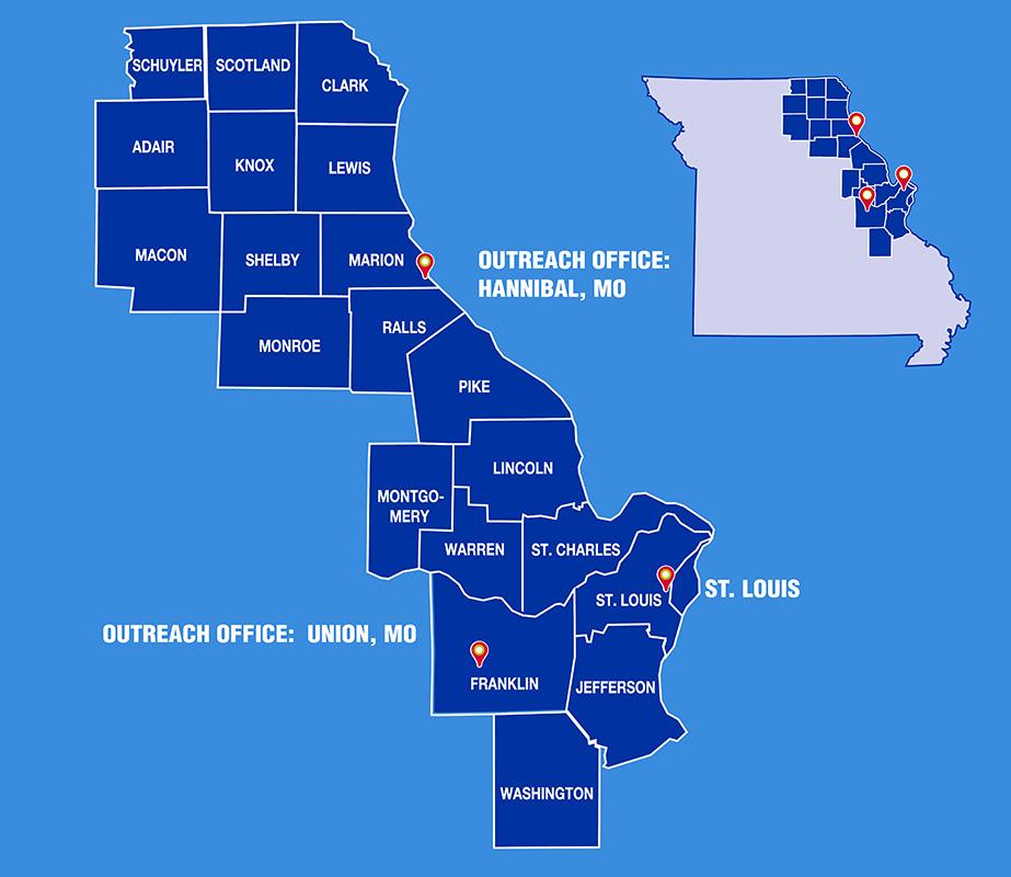 LSEM area map