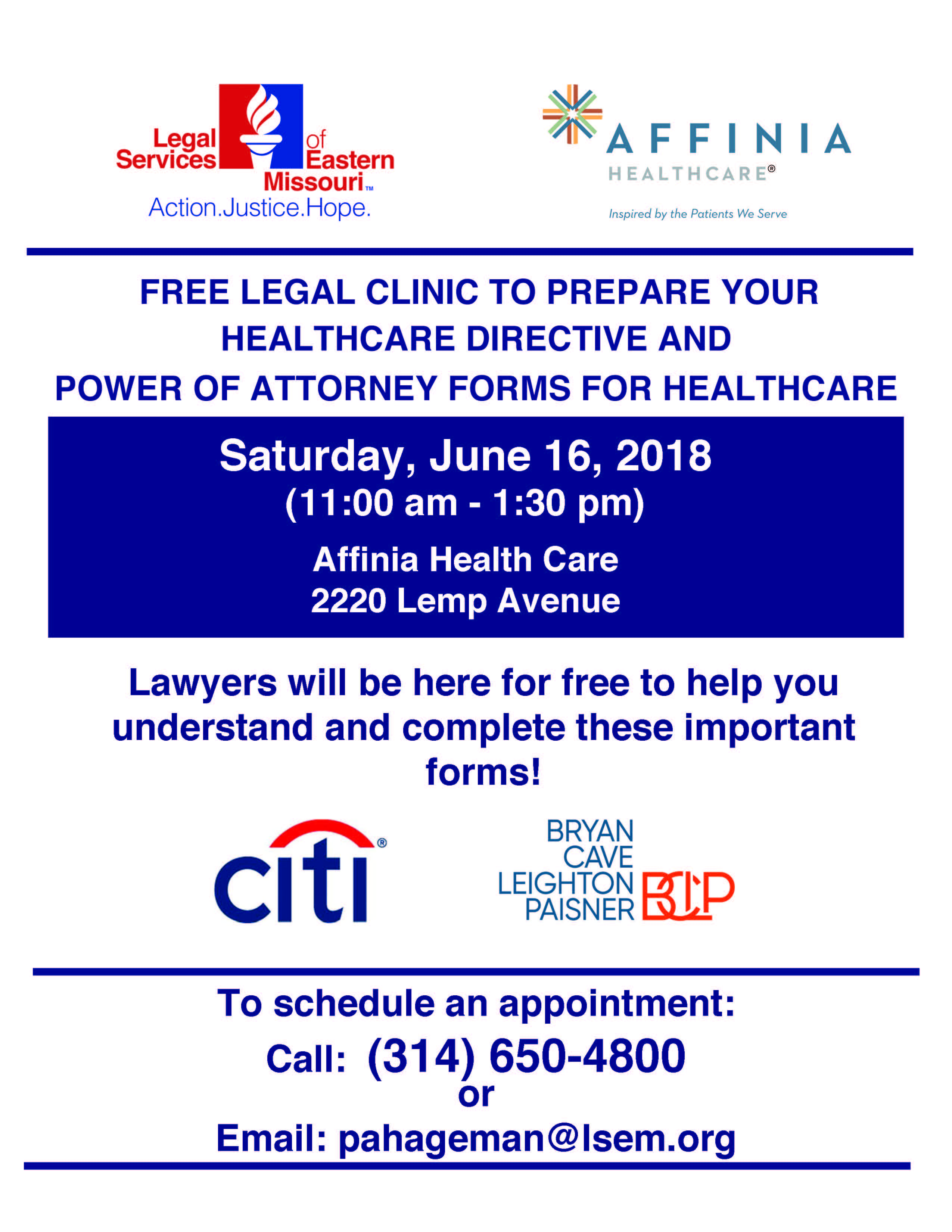 Free Legal Clinic For Healthcare Directives Legal Services Of